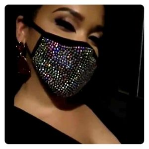 Women's Rhinestone face mask
